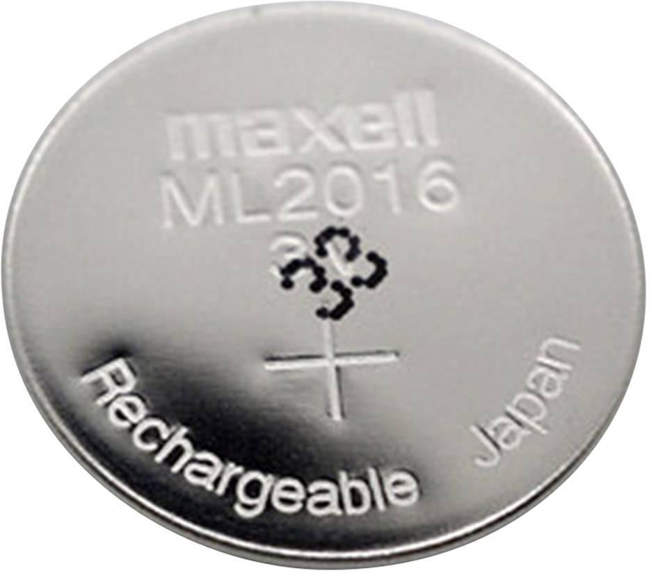 Gombíkový akumulátor Maxell ML2016 25 mAh 3 V 1 ks