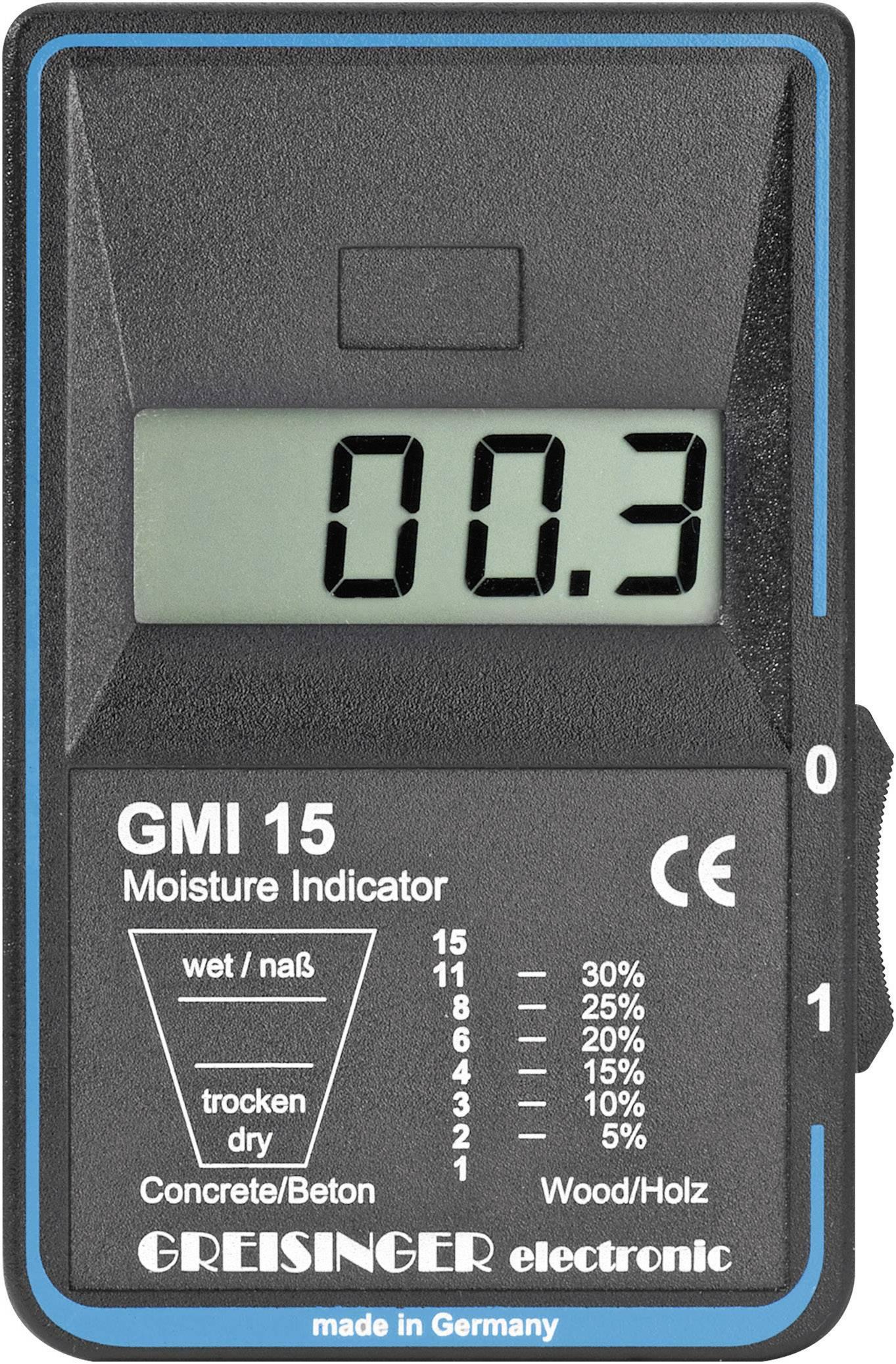 Indikátor vlhkosti dreva a stavebných materiálov Greisinger GMI 15