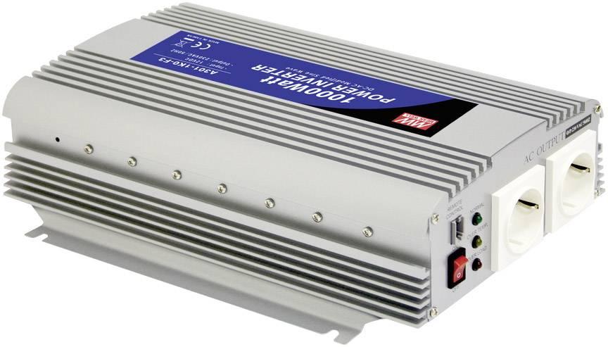 Menič napätia DC / AC Mean Well A301-1K0-F3, 1000 W, 12 V/DC/1000 W