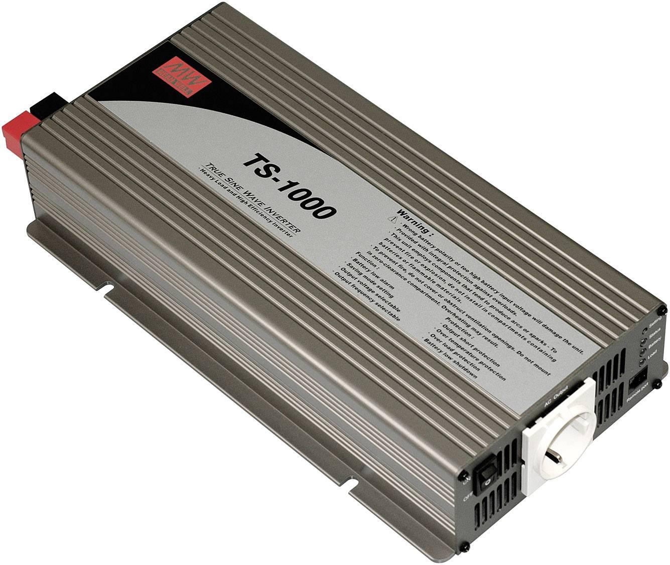 Menič napätia DC / AC Mean Well TS-1000-212B, 1000 W, 12 V/DC/1000 W