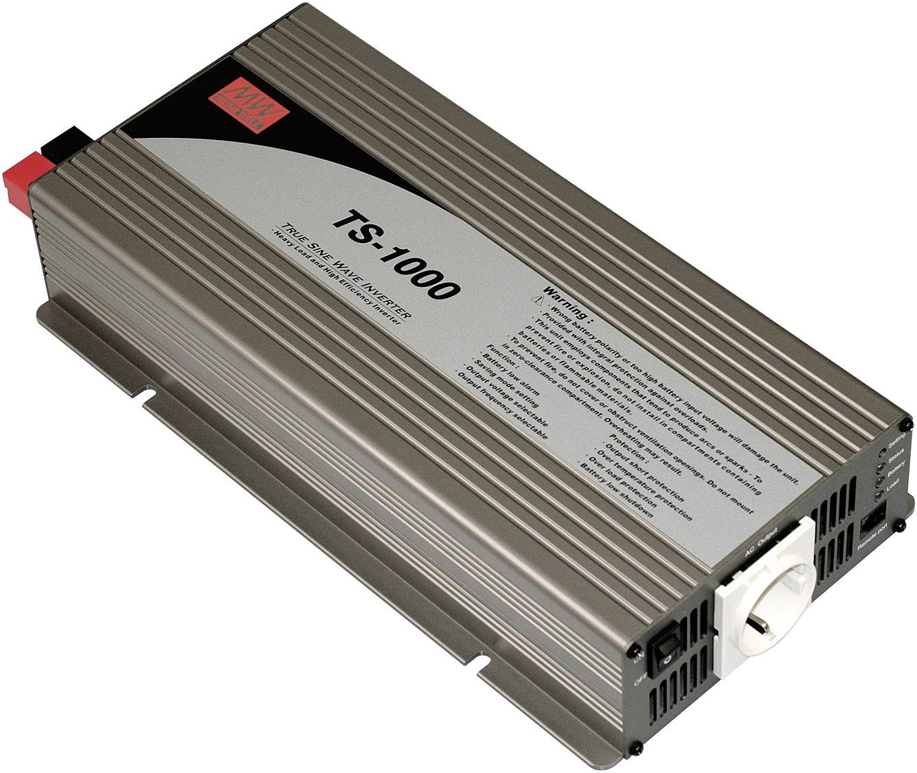 Menič napätia DC / AC Mean Well TS-1000-224B, 1000 W/1000 W