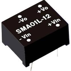 DC/DC měnič MeanWell SMA01M-12, 12 V/DC 84 mA, 1 W