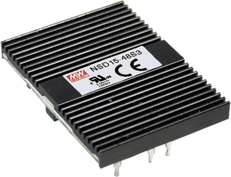 DC menič napätia Mean Well NSD15-12S5, 5 V/DC /15 W
