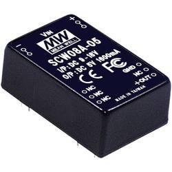DC/DC měnič MeanWell SCW08B-12, +12 V/DC 670 mA, 8 W