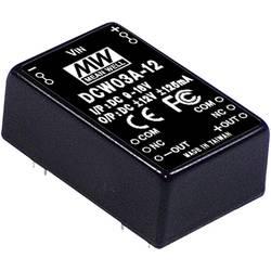 DC/DC měnič MeanWell DCW03B-12, +/-12 V/DC 125 mA, 3 W