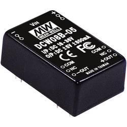 DC/DC měnič MeanWell DCW08B-12, +/-12 V/DC 335 mA, 8 W