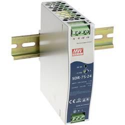 Sieťový zdroj na DIN lištu Mean Well SDR-75-12 12 V / DC 6.3 A 75 W 1 x