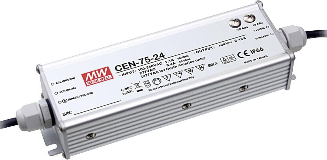 LED driver, napájecí zdroj pro LED Mean Well CEN-75-54, 75 W (max), 0 - 1.4 A, 40.5 - 54 V/DC