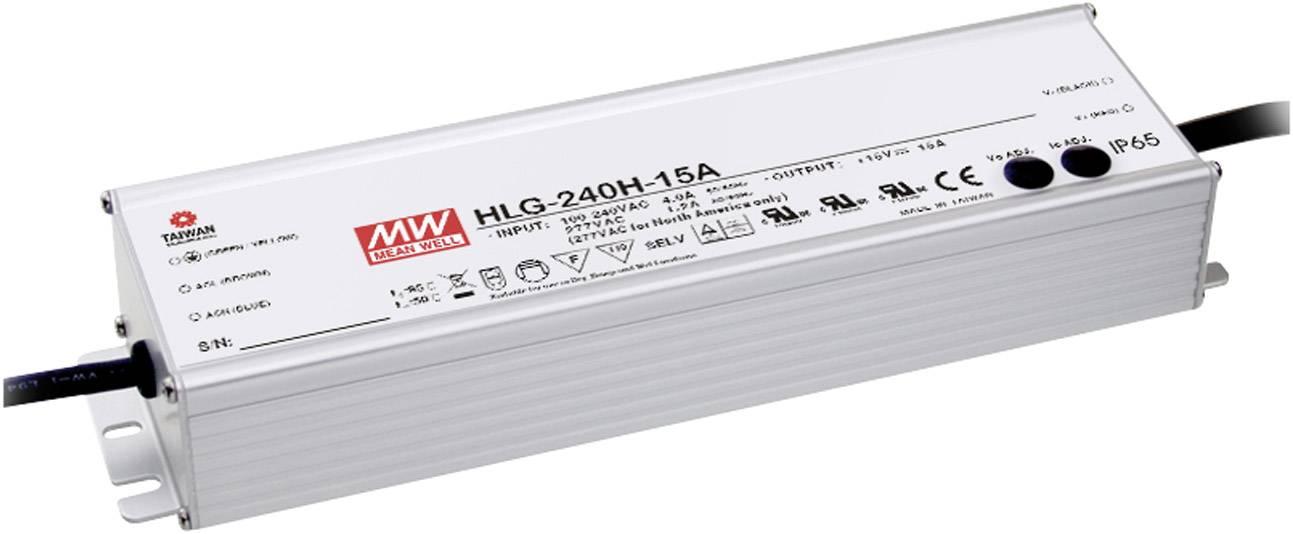 LED driver, napájecí zdroj pro LED Mean Well HLG-240H-36, 241 W (max), 6.7 A, 18 - 36 V/DC
