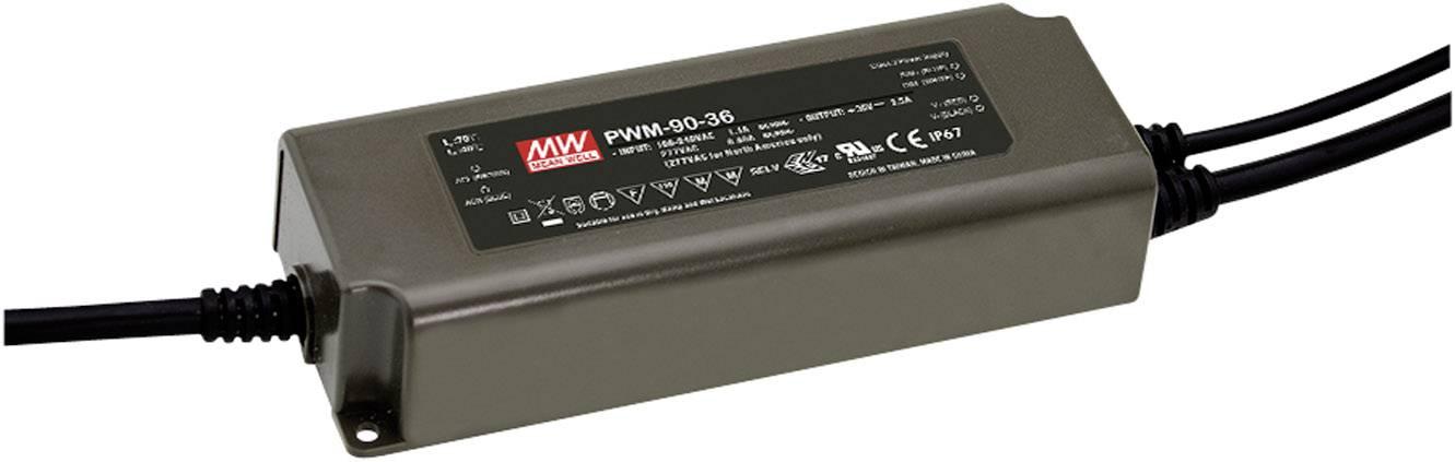 Napájecí zdroj pro LED Mean Well PWM-90-48, 90 W (max), 0 - 1.88 A, 48 V/DC