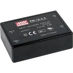 AC/DC zdroj do DPS Mean Well PM-15-12, 12 V/DC, 1.25 A, 15 W
