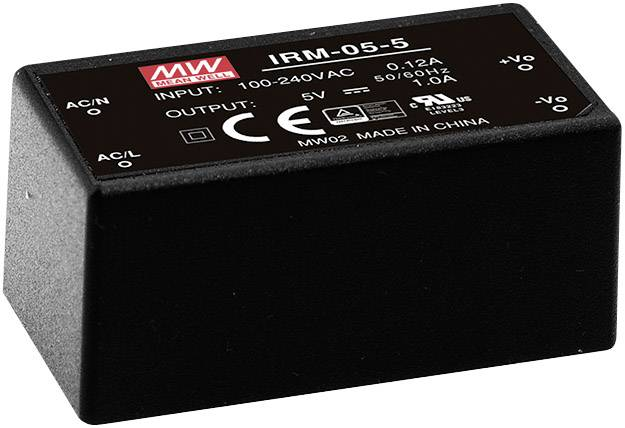 AC/DC zdroj do DPS Mean Well IRM-05-5, 5 V/DC, 1 A, 5 W