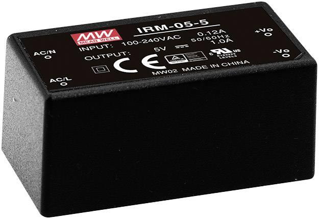 Sieťový zdroj AC/DC do DPS Mean Well IRM-05-5, 5 V/DC, 1 A, 5 W