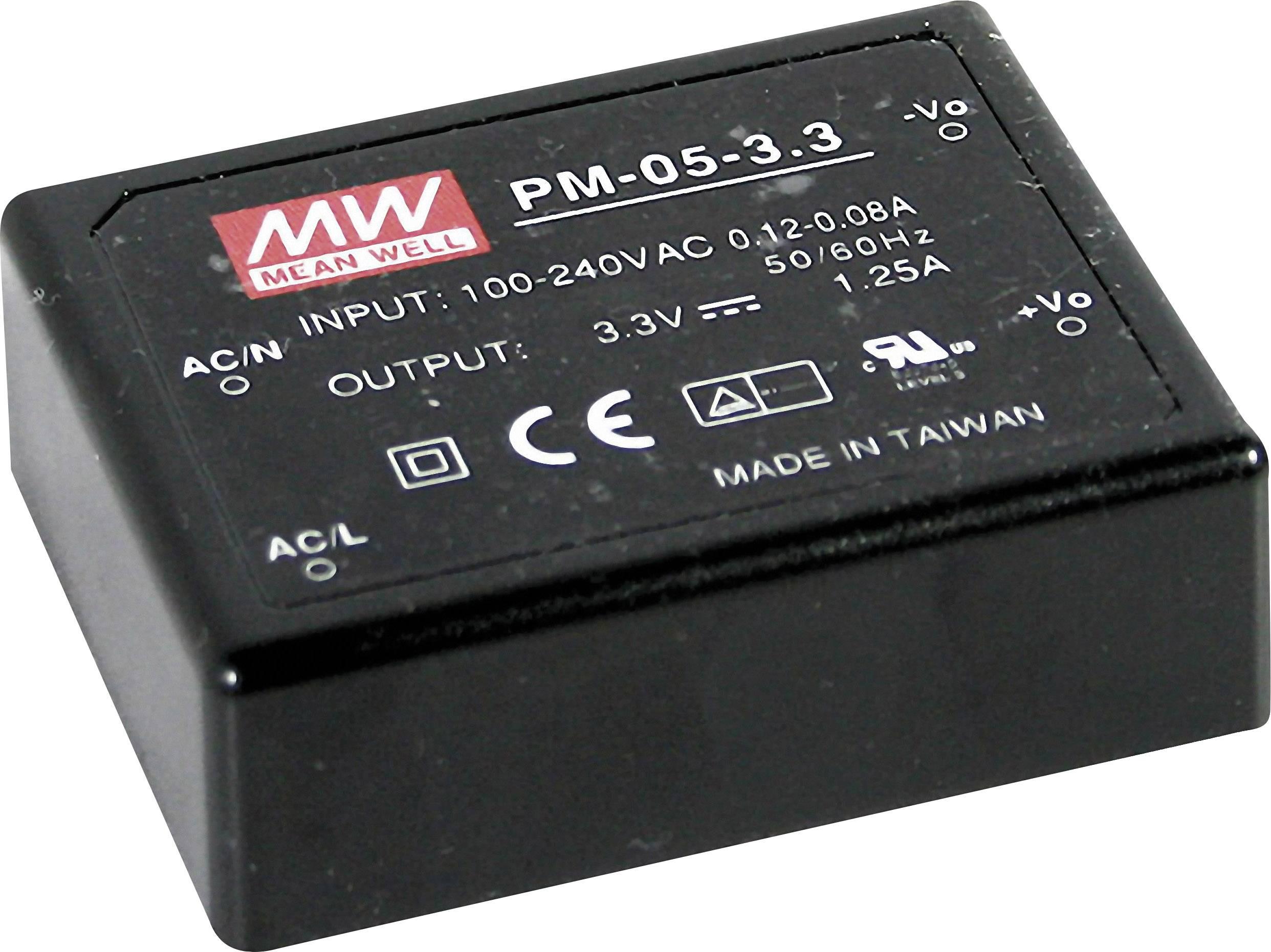 AC/DC zdroj do DPS Mean Well PM-05-5, 5 V/DC, 1 A, 5 W