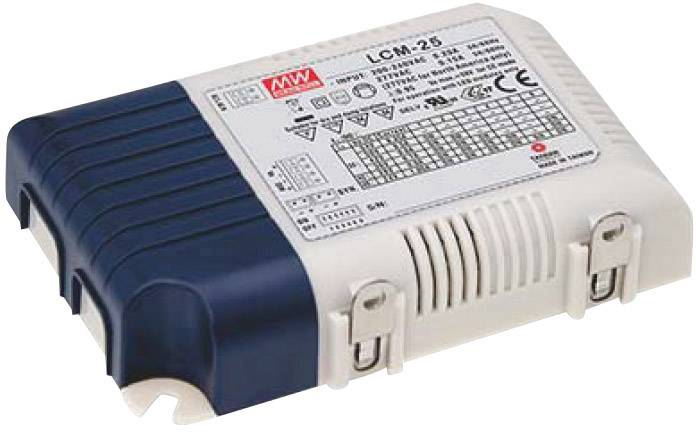 LED driver Mean Well LCM-25, 25 W (max), 0.35 - 1.05 A, 6 - 54 V/DC