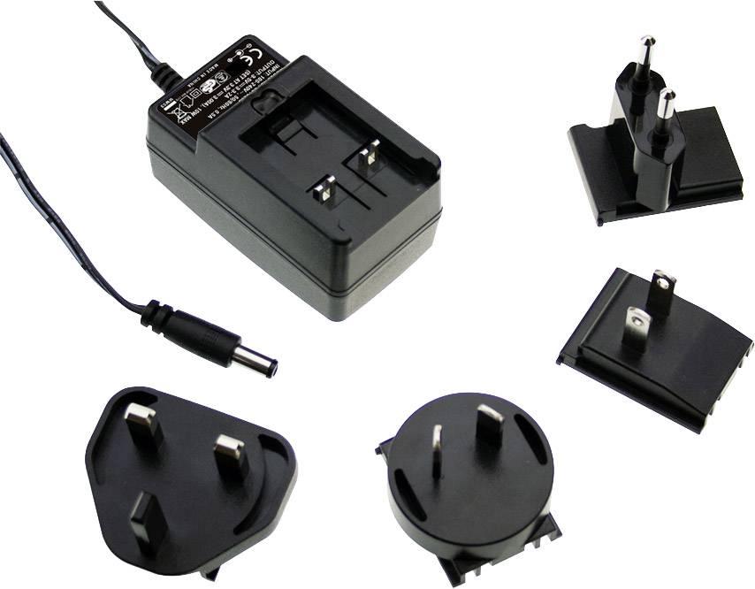 Zásuvkový napájecí adaptér, stálé napětí Mean Well GE30I18-P1J, 30 W, 1660 mA