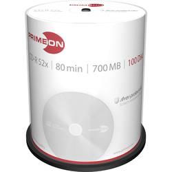 CD-R 80 700 MB Primeon 2761103 100 ks vřeteno stříbrný matný povrch