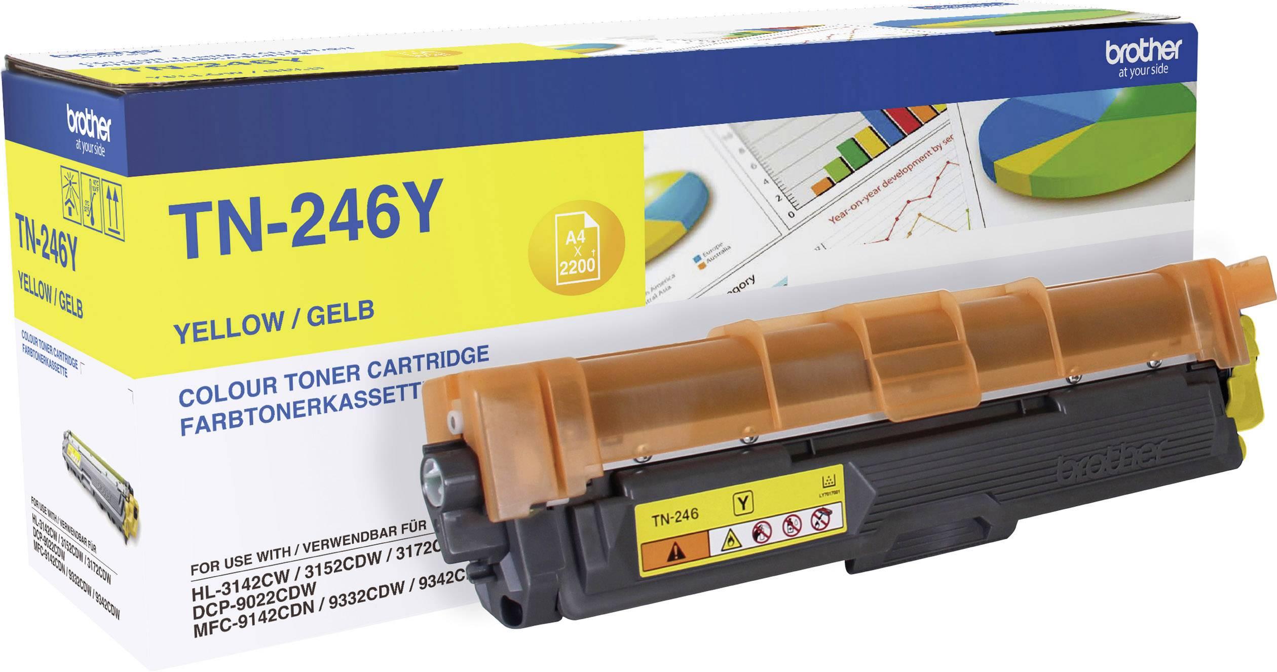 Toner originál Brother TN-246Y žlutá Maximální rozsah stárnek 2200 Seiten