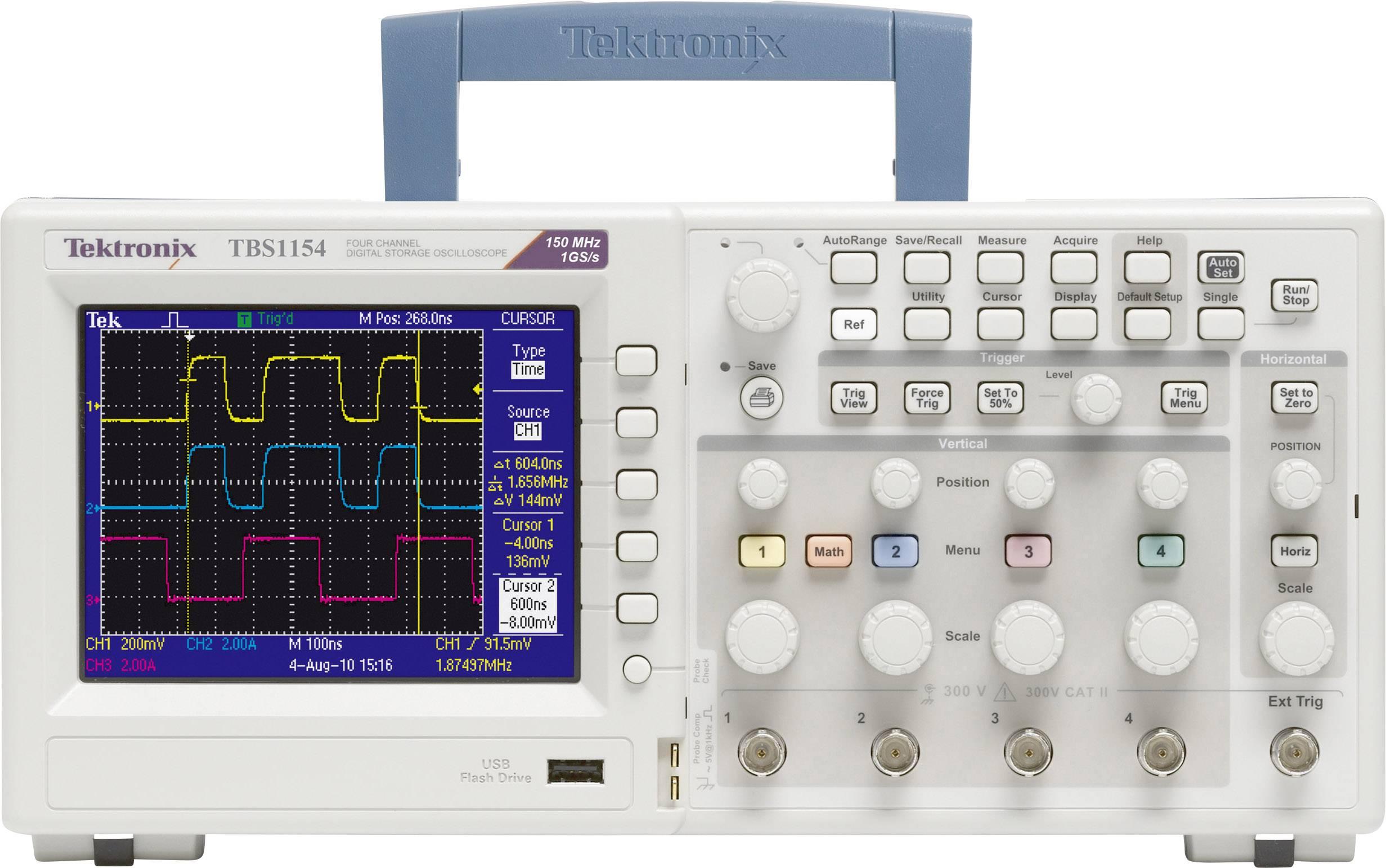 Digitální osciloskop Tektronix TBS1064, 60 MHz, 4kanálová, Kalibrováno dle ISO