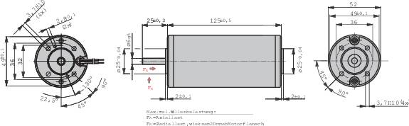 Elektromotor EBM Papst BCI 52.60, 24 V, 2,9 A, 0,17 Nm, 3100 ot./min