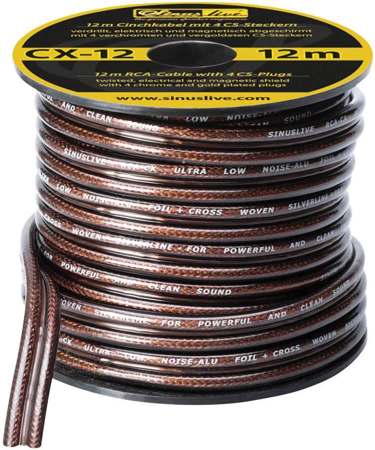Kábel cinch Sinus Live CX-12, 14079, 2x zástrčka ⇔ 2x zástrčka, 12 m