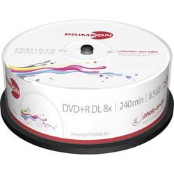 DVD+R DL 8.5 GB Primeon 2761252, možnosť potlače, 25 ks, vreteno