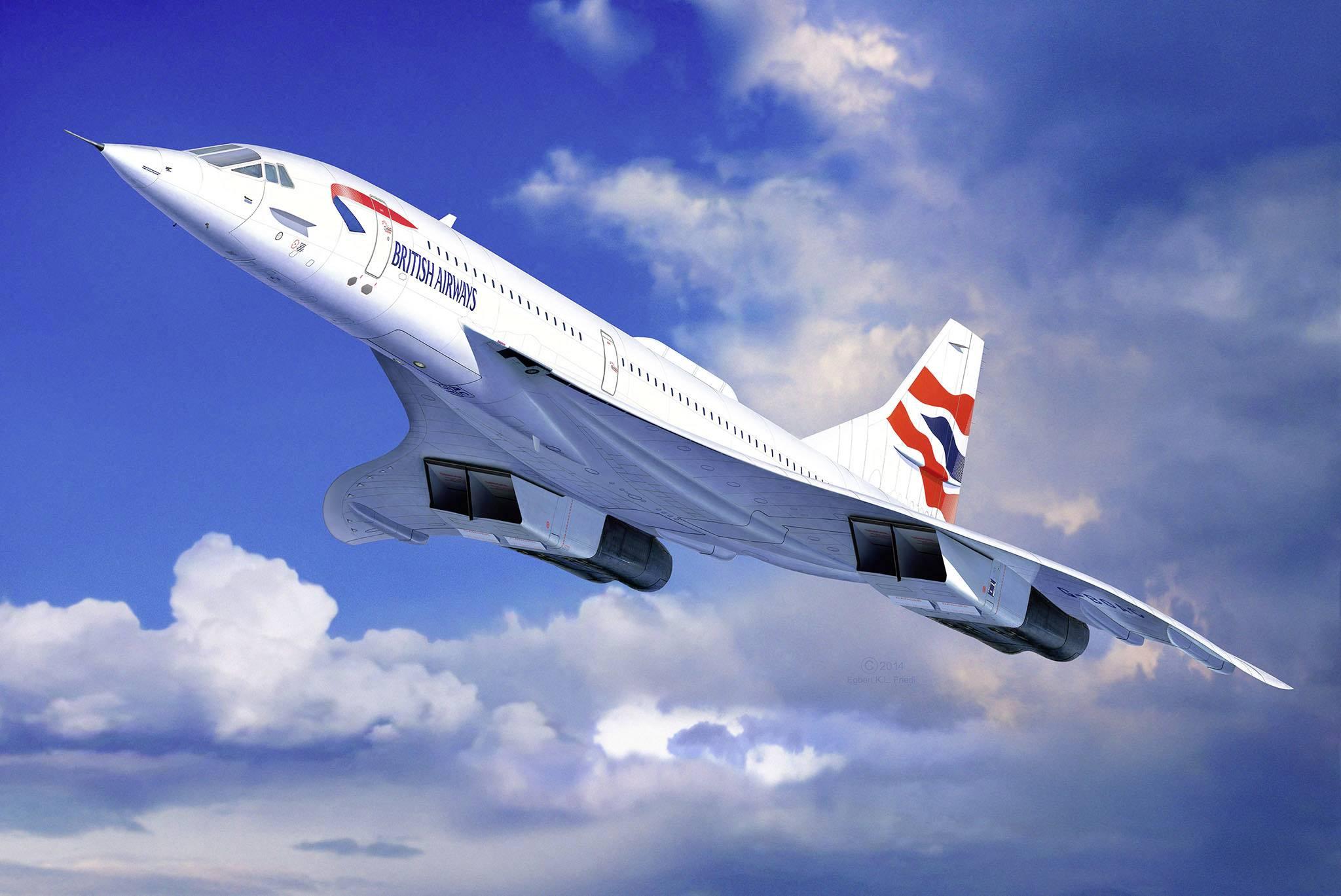 Model letadla, stavebnice Revell 4997 Concorde British Airways 1:72