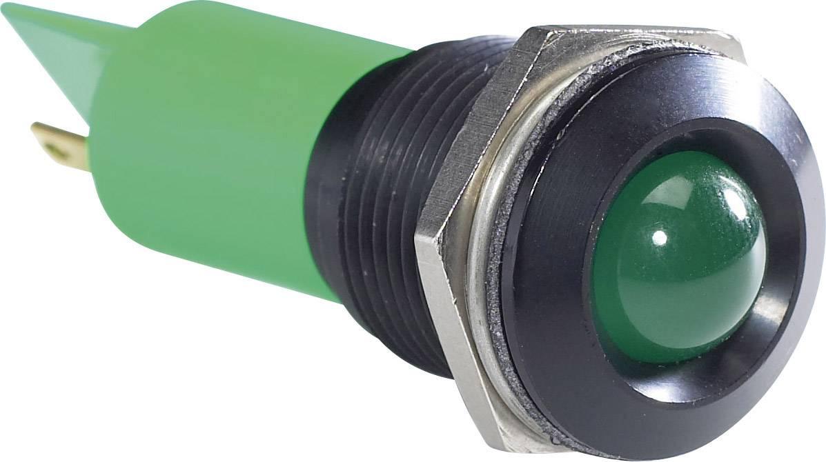 IndikačnéLED APEM Q16P1BXXG220E, 230 V/AC, zelená