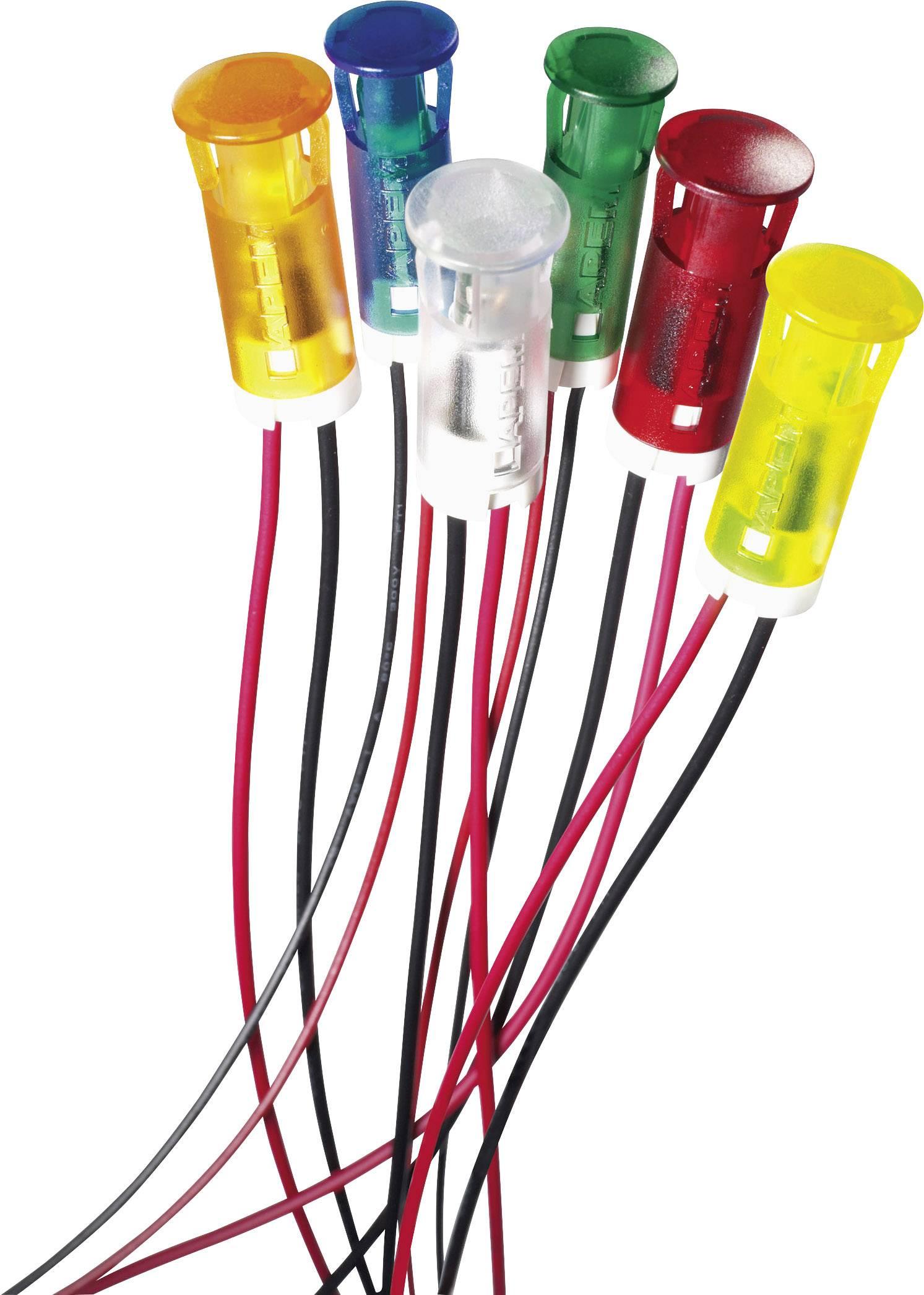 LED signálka APEM QS63XXO12, 12 V/DC, oranžová