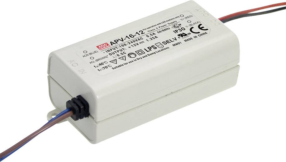 Napájecí zdroj pro LED Mean Well APV-16-24, 16 W (max), 0 - 0.67 A, 24 V/DC
