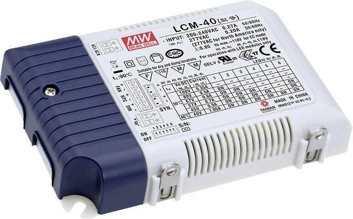 LED driver Mean Well LCM-40DA, 42 W (max), 0.35 - 1.05 A, 2 - 100 V/DC