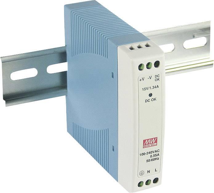 Sieťový zdroj na DIN lištu Mean Well MDR-10-5 5 V / DC 2 A 10 W 1 x