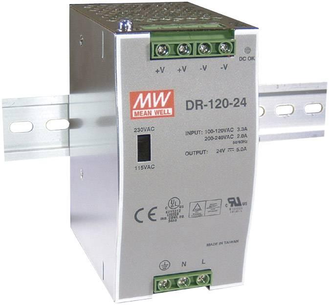 Sieťový zdroj na DIN lištu Mean Well DR-120-12 12 V / DC 10 A 120 W 1 x