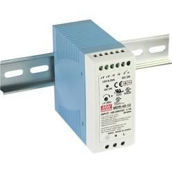 Síťový zdroj na DIN lištu Mean Well MDR-40-12, 1 x, 12 V/DC, 3.33 A, 40 W