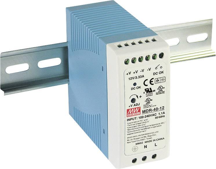 Sieťový zdroj na DIN lištu Mean Well MDR-40-12 12 V / DC 3.33 A 40 W 1 x