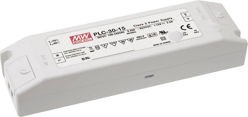LED driver, napájecí zdroj pro LED Mean Well PLC-30-48, 30 W (max), 0 - 0.64 A, 48 V/DC