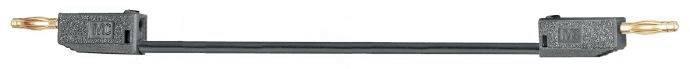 Merací kábel Multicontact LK205-X, 2 mm, 0.6 m, čierny