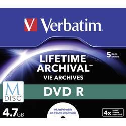 M-Disc 4.7 GB Verbatim Jewelcase, 43821, možnosť potlače, 5 ks