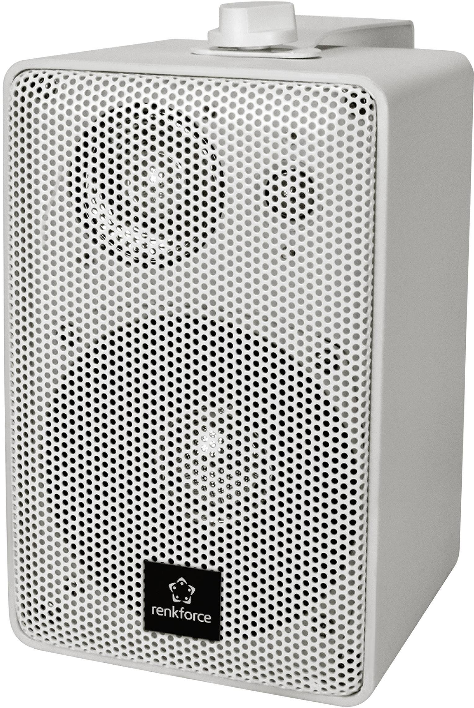 Regálový reproduktor Renkforce RL100W WH, 90 do 20000 Hz, 100 W, 1 pár, biela