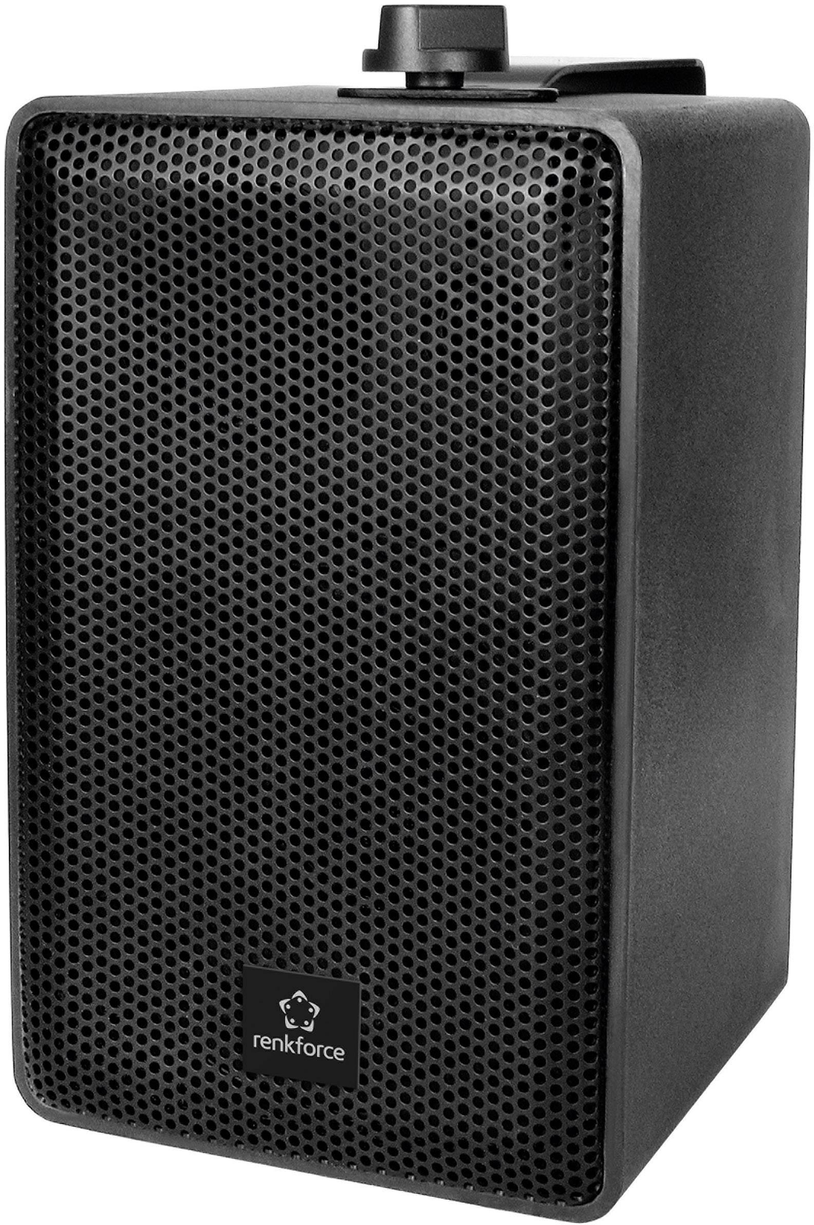 Regálový reproduktor Renkforce RL100W BK, 90 do 20000 Hz, 100 W, 1 pár, čierna