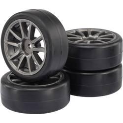 Kompletné kolesá Slick Reely 511852 pre cestný model, 64 mm, 1:10, 4 ks, sivá