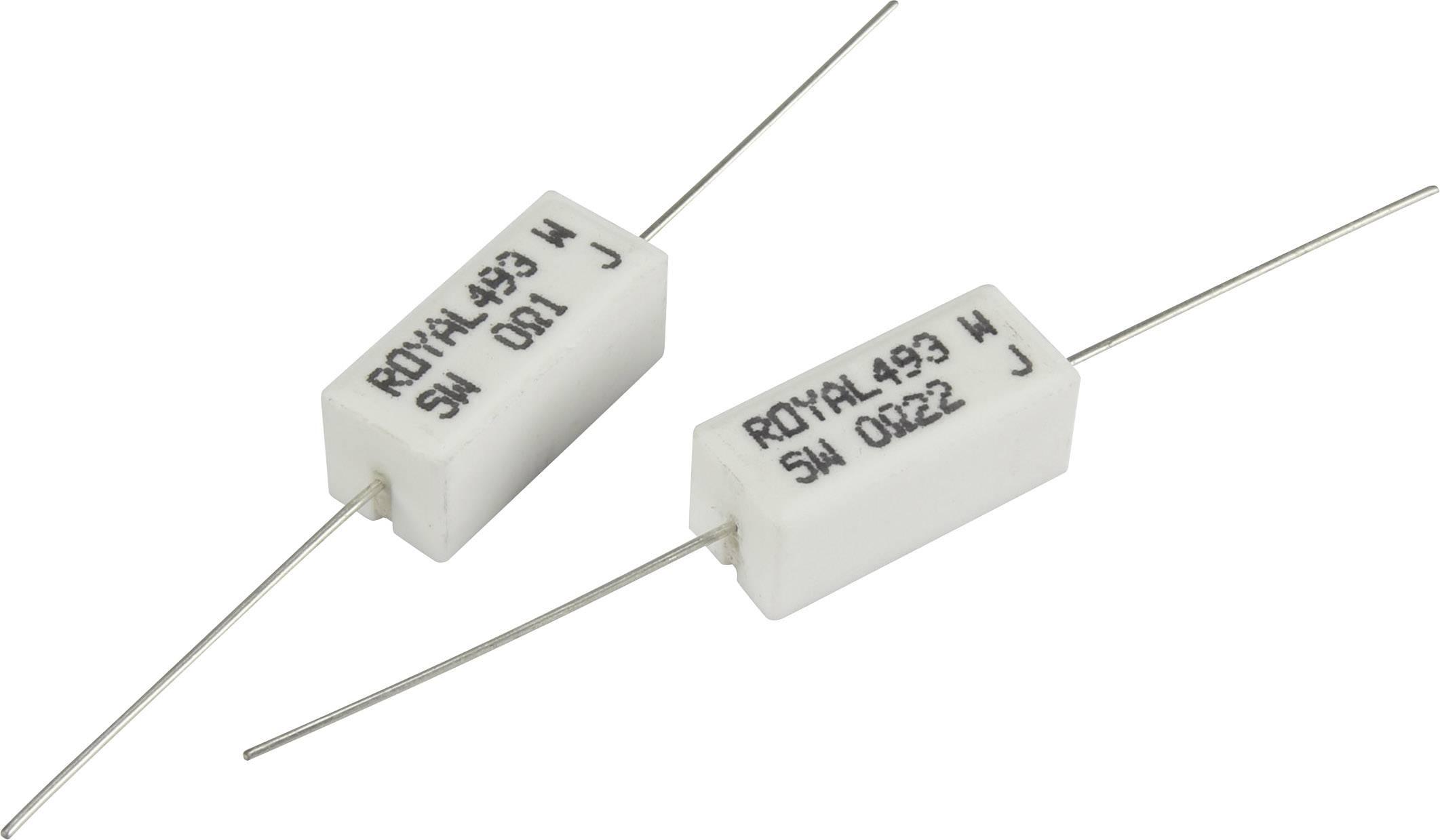 Výkonný rezistor TRU COMPONENTS TC-PRW05WJW50JB00203, hodnota odporu 5 Ohm, axiální, 5 W, 1 ks