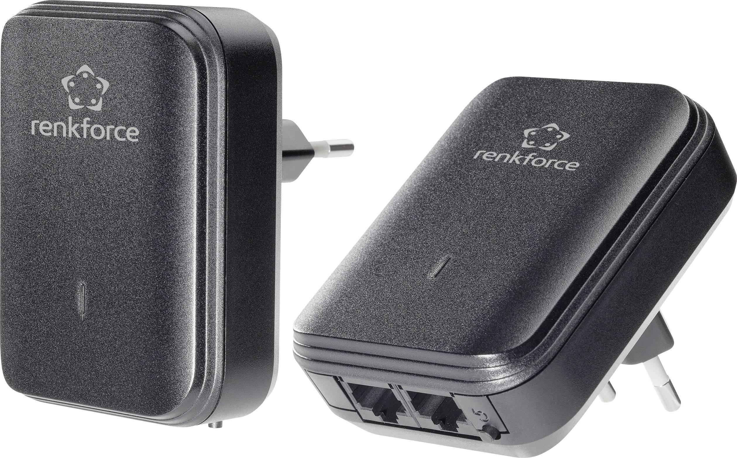 Sada adaptérov Powerline RENKFORCE PL500D, 500 MBit / s, 2x duo