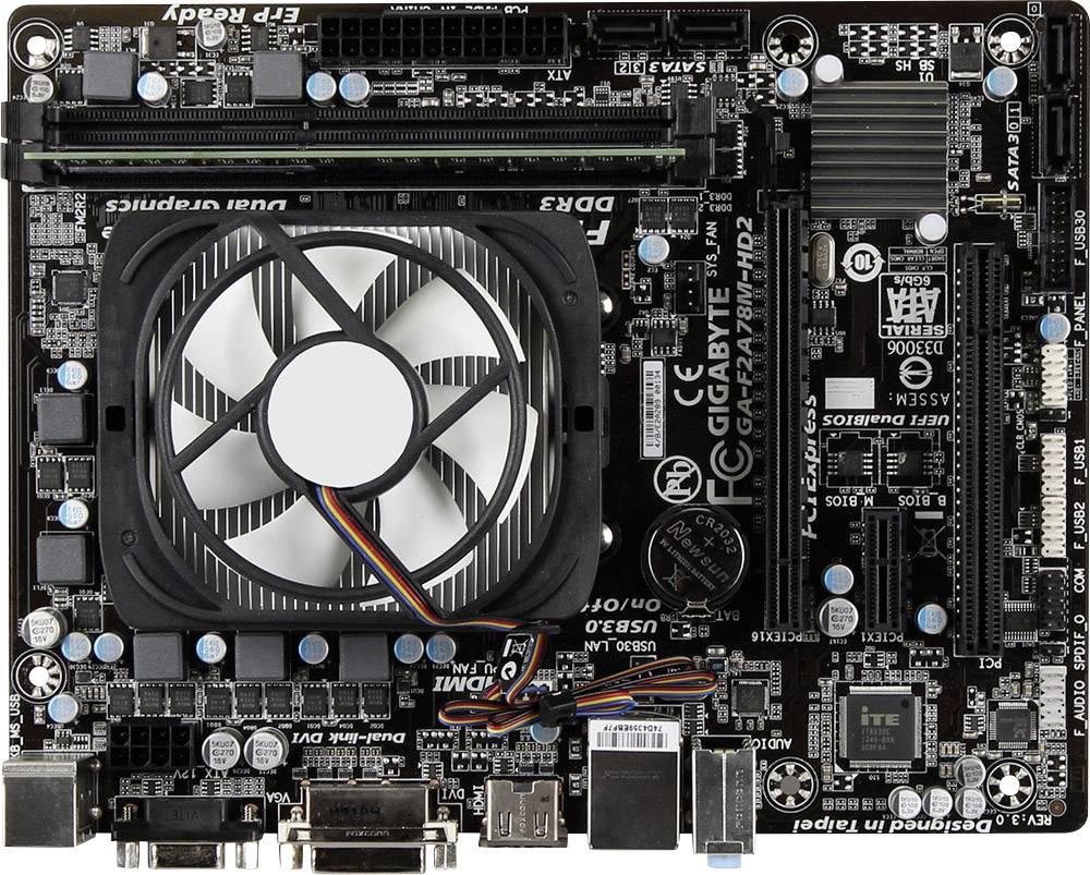 Základní deska s procesorem Renkforce AMD A4-6300, DDR3 4 GB, 2x 3,7 GHz, ATX