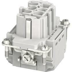 Konektorová vložka, zásuvka HC-B Phoenix Contact 1407727, 6 + PE, zásuvná svorka, 1 ks