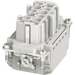 Konektorová vložka, zásuvka HC-B Phoenix Contact HC-B 10-I-PT-F 1407729, počet kontaktov 10 + PE, zásuvná svorka, 1 ks