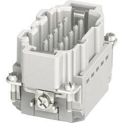 Vložka pinového konektora HC-B Phoenix Contact HC-B 10-I-PT-M 1407730, počet kontaktov 10 + PE, zásuvná svorka, 1 ks