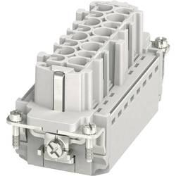 Súprava konektorovej zásuvky HC-B Phoenix Contact HC-B 16-I-PT-F 1407731, počet kontaktov 16 + PE, zásuvná svorka, 1 ks