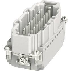 Vložka pinového konektora HC-B Phoenix Contact HC-B 16-I-PT-M 1407732, počet kontaktov 16 + PE, zásuvná svorka, 1 ks