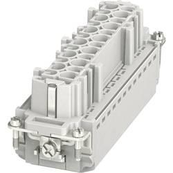 Konektorová vložka, zásuvka HC-B Phoenix Contact HC-B 24-I-PT-F 1407735, počet kontaktov 24 + PE, zásuvná svorka, 1 ks